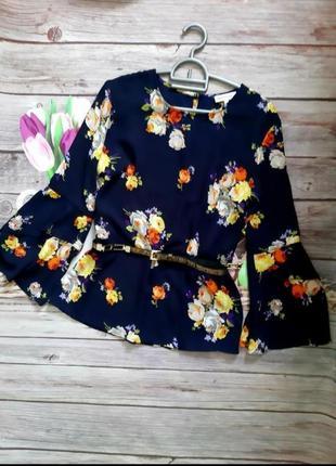 Кофта шифоновая, весенняя блузка, блуза