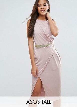 Облегающее платье с отделкой на талии и перекрутом asos