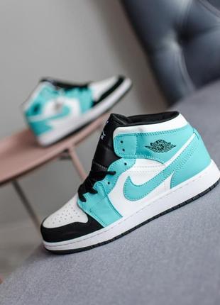 Nike air jordan 1 retro 🍏 стильные женские кроссовки найк аир джордан ретро
