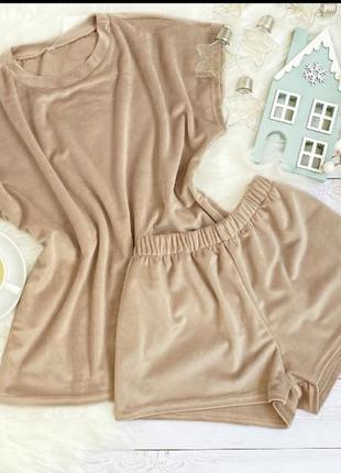 Домашняя пижама плюшевая