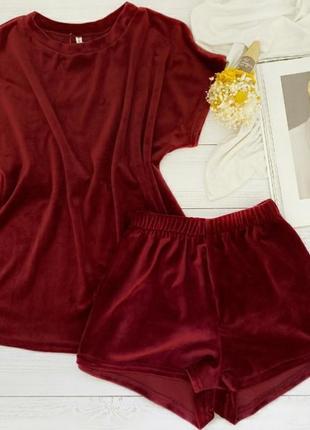 Женская пижама плюшевая