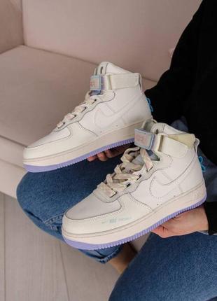 Nike air force 1 high utility 🍏 стильные женские кроссовки найк аир форс