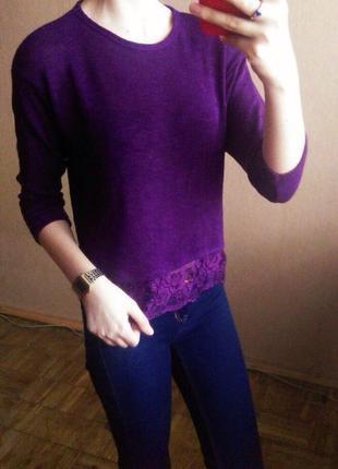 Лёгкий свитерок с кружевом