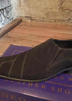 Замшевые туфли классические