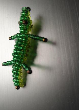 Крокодил из бисера ручная работа