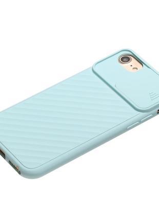 Чехол для iphone 7 plus 8 plus силиконовый slider со слайд-камерой