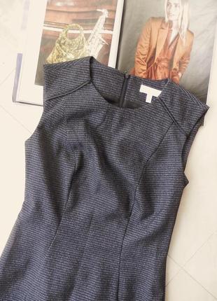 Плаття офісне стильне з шкіряними вставками, в новому стані!