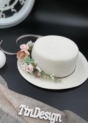 Цветочна шляпа