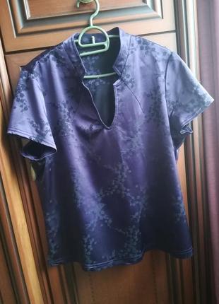 Блузка в японском стиле с коротким рукавом блуза