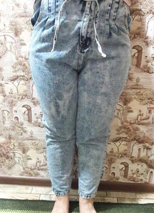 Джинсы женские  модные хороший большлой размер.