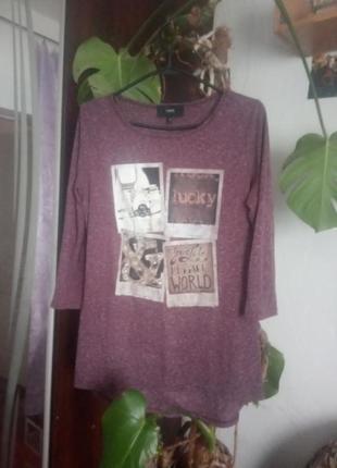 Удлиненная футболка с рукавами