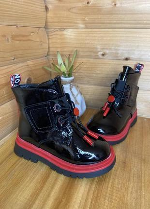 Лаковые сапожки на весну ботинки черевики на весну