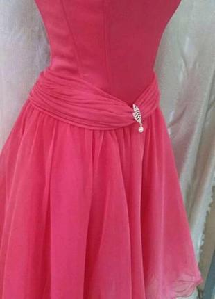 Платье фатин на корсете