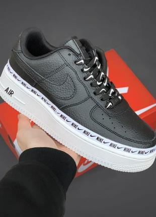 "Nike air force 1 low ""ribbon pack"" black кроссовки найк кеды кросівки жіночі кеди"