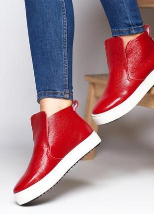 Женские кожаные ботинки слипоны мокасины жіночі шкіряні черевики сліпони мокасини