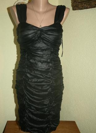Роскошное итальянское коктейльное платье в стиле lanvin