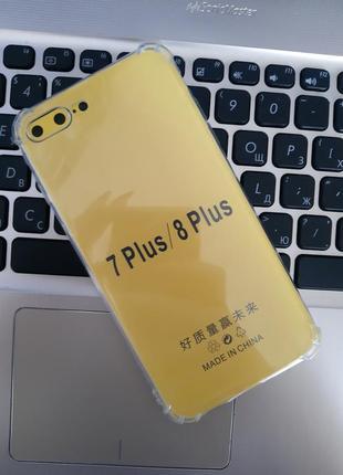Прозрачный чехол для iphone 7 plus/ 8 plus