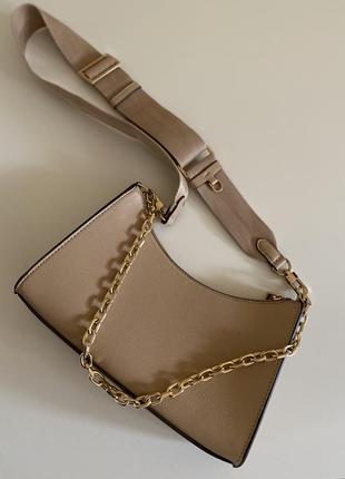 Сумка бежевая, сумочка, новая сумка, сумка-багет