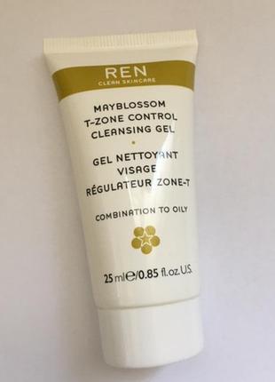 Гель для умывания ren gel nettoyant visage rosa centifolia