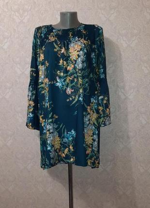 Красивое платье в цветочный принт zara m/l