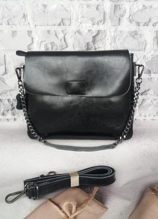 Женская кожаная сумка на плечо жіноча шкіряна сумочка клатч женский