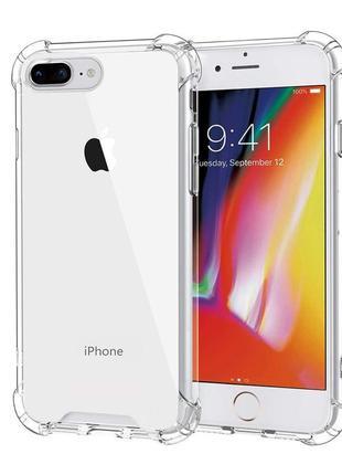 Прозрачный противоударный чехол на iphone 7/8 plus
