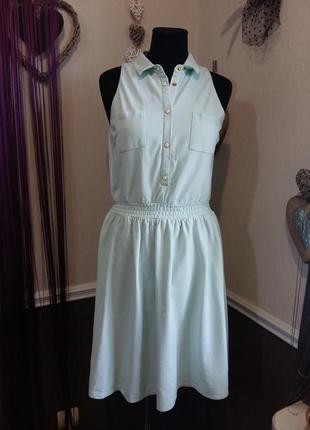 Красивое мятное спортивное платье mint & berry