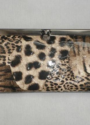 Кошелек женский в леопардовом стиле из кожзама
