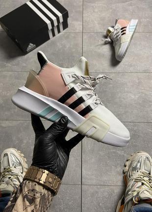 Кроссовки adidas eqt bask adv pink white.