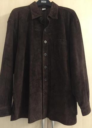 Куртка замшевая рубашечного кроя