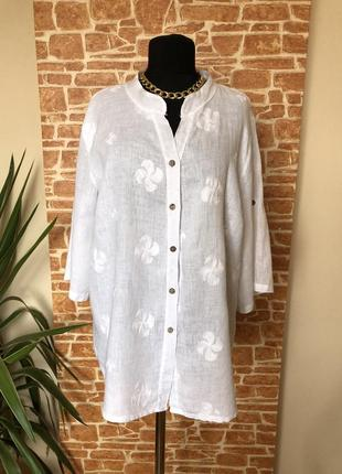 Блуза рубашка италия лён