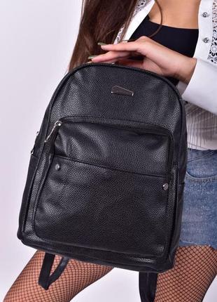 Стильный рюкзак - сумка эко кожа 259278 black