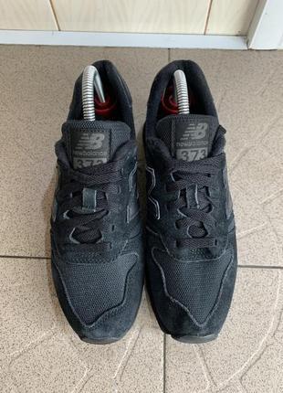 Чорні замшеві кросівки new balance 373