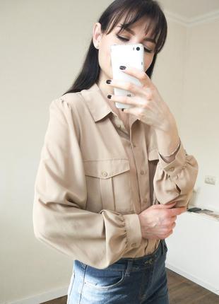 До 10.03. сорочка f&f, бежевая рубашка