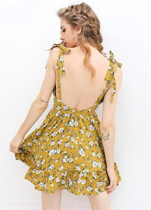 Романтичное платье в цветочек