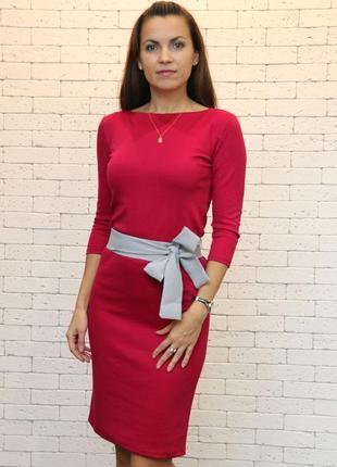Трикотажное платье natella вишня
