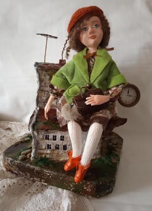 Интерьерная кукла. городской ангел