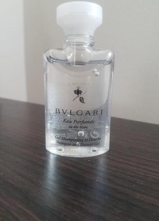 Шампунь-гель для душа от bvlgari с ароматом eau parfumee au the blanc