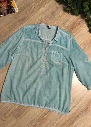Отличная свободная блузка рубашка кофточка