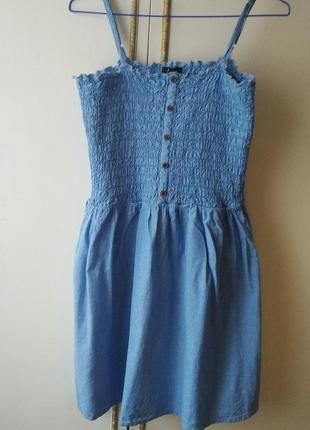 Сарафан, платье на брителях, сарафан с резинкой, платье летнее, сарафан хлопковый