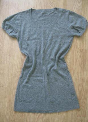 Кофта свитер туничка шерсть-ангора