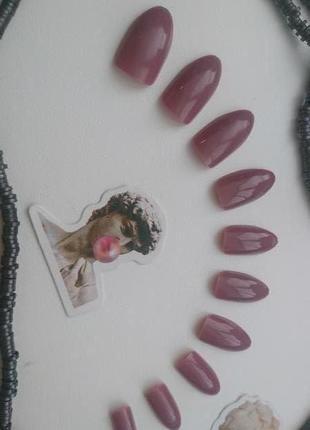 Комплект накладных ногтей 24 шт. миндалевидной формы типсы