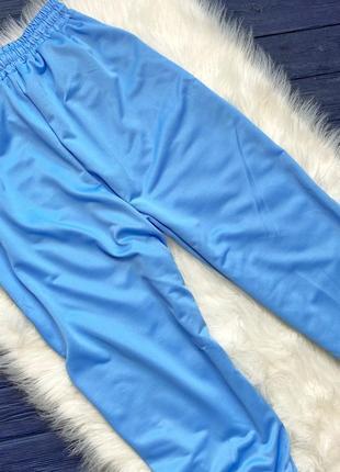 Штаны спортивные или для дома голубые м л3 фото