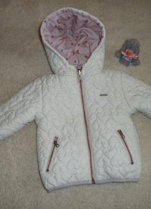 9-12 мес легкая стешаная двухсторонняя куртка zara