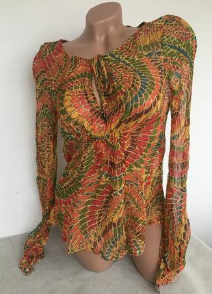 Шёлковая блузка/ блуза жар-птица mng