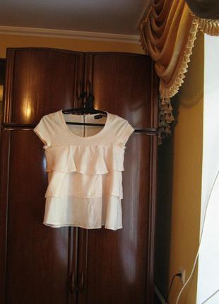 Блуза topshop, 100% натуральный шелк хлопок, размер 12