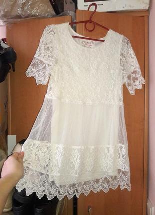 Платье кружевное размер ххс-хс