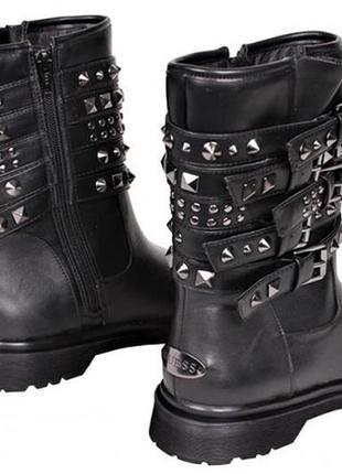 Бомба!оригинал,брендовые трендовые кожаные ботинки-сапоги guess