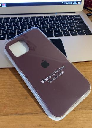 Силиконовый чехол full silicone case на iphone 12 pro max