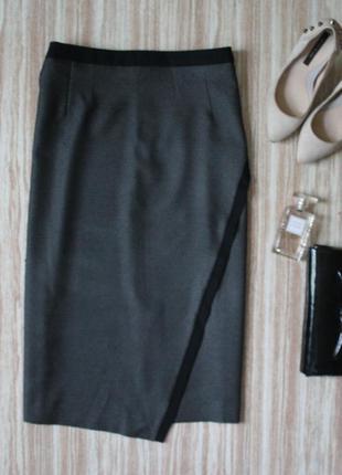 Актуальная асимметричная миди юбка №115